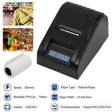 POS ESC Cash Thermal Dot Receipt Printer 58mm USB Bill Paper Print Stores Retail