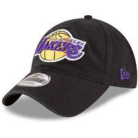 Los Angeles Lakers New Era 9Twenty Cotton Adjustable Strap Black Hat Dad Cap MLB
