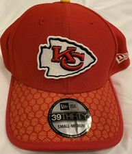 Kansas City Chiefs New Era Red Fitted Small Medium Hat Cap New NWT Sideline