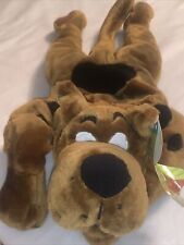 """Vintage 26"""" SCOOBY DOO Plush: SQUEEZE MY EAR, I TALK Laying Down Cartoon Network"""