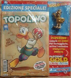 TOPOLINO N. 3315 + STATUETTA PAPERINO GOLD - EDIZIONE SPECIALE 85 ANNI PAPERINO