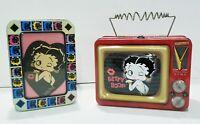 Betty Boop Tin Metal Lunch Box TV / Photo Frame Tin Vintage 1999, 2000 Antenna