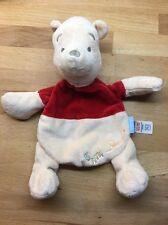 Winnie the Pooh Tu Sainsbury's Flat Soft Plush Toy Comfort Blanket Comforter (3)
