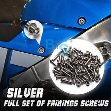 Silver Full Set Fairing Bolt Kit Fasteners Nuts Screws Honda CBR1100XX 97-03 EV
