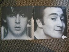 Vintage Photo Picture Print THE BEATLES B&W Dot Silk Screen Pop Art John Goons
