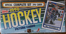1990-91 TOPPS NHL HOCKEY FACTORY SEALED COMPLETE 396 CARD SET!