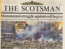 The Week the World Changed Original Scotsman 13 September 2001 Twin Towers 9/11