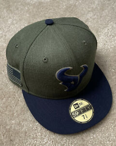 Houston Texans New Era Salute to Service Sideline 59FIFTY Fitted Hat NWT 7 5/8