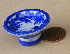 1:12 scala Grandi Blu Ceramica Uccello BAGNO CASA BAMBOLE GIARDINO PET Accessorio B7