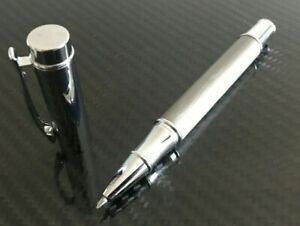 Edel Metall Kugelschreiber Luxus Geschenk Business Kuli silber gebürstet