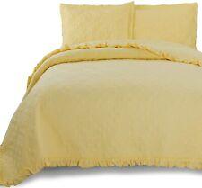 Kasentex Ultra Soft Bedding bedspread Quilt yellow King