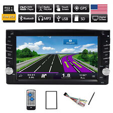 "6.2"" Car GPS Navigation Radio DVD Player Double 2DIN Stereo BT Touch In Dash HD"