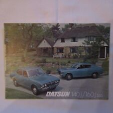 DATSUN 140J 160J sss 140 160 J Coupe Saloon UK Market Car Sales Brochure 1970s