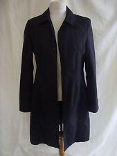 Ladies Coat - Dorothy Perkins, size 10, EU 38, black, polyester, like mac - 2349