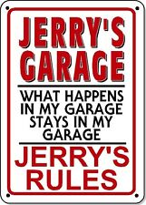 JERRY'S GARAGE SIGN - NOVELTY Polystyrene SIGN GARAGE Man cave