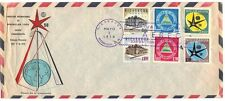 NICARAGUA 1958 INTERNATIONAL EXPO FDC ON AIR MAIL COVER EDGE FOLDS SEE SCANS