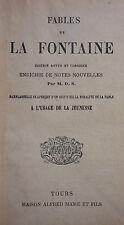 LA FONTAINE - FABLES - 1933 ED. MAME ET FILS - Nombreuses fables Non illustré