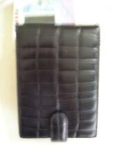 FILOFAX - Luxe* BALMORAL Flip PDA Holder + 4 CCards -NEUF/cuir façon CROCO +note