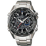 Casio Men's EQS500DB-1A1 Edifice Tough Solar Stainless Steel Multi-Function