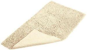 "Pinzon Luxury Loop Cotton Bath Mat Bathroom Rug, 30"" by 50"", Ivory, Washable"