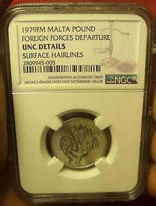 Malte 1979FM Livre ~ NGC Certifié UNC