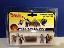 Woodland Scenics HO Gauge GRAVESIDE SERVICE Set of 5 #A1868 NEW!