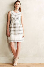 Sona Dress Plaid Fit & Flare Cocktail Work By Ivy + Blue Anthropologie, Size 10