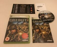 Call Of Duty 3 III Microsoft Xbox 360 Complete PAL COD