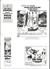 THE ROUNDERS pressbook, Glenn Ford, Jane Fonda, Chill Wills -----PLUS POSTER----