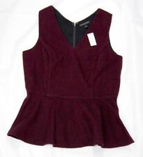 Banana Republic women's peplum top purple size 10 sleeveless wool blend
