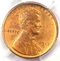 1917-S Lincoln Wheat Cent 1C - PCGS Uncirculated Details - Rare MS UNC Coin!