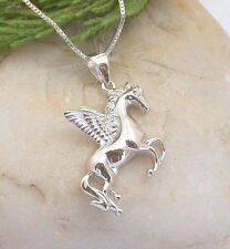 HORSE WESTERN JEWLLERY JEWELRY GIFTS CZ PEGASUS  NECKLACE 925 STERLING SILVER