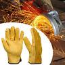 Cow Leather Welder Gloves Anti-Heat Work Safety Gloves Welding Metal Hand Tools.