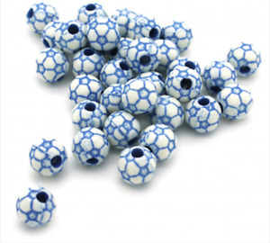100 FOOTBALL PONY BEADS - LIMITED OF STOCK, ONCE ITS GONE, ITS GONE (light blue)
