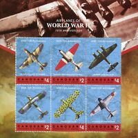Canouan Gren St Vincent 2018 MNH WW2 WWII Airplanes 6v M/S III Aviation Stamps