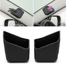 2X Universal Car Auto Accessories Glasses Organizer Storage Box Holder Black