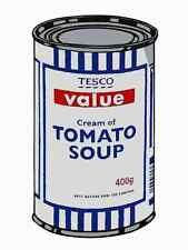 Banksy Tesco Cream Tomato Soup A4 Sign Aluminium Metal