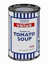 Banksy Tesco Cream Tomato Soup A4 Sign Aluminium Metal
