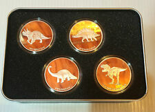 "RARE No.1 2014 Set of  4 x 1 OZ ""The Dinosaur Collection"" finished in 999 silver"