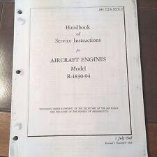 Pratt & Whitney R-1830-94 Service Manual