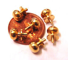 1:12 Scale 6 Brass Door Knobs Handles Dolls House Miniature DIY Accessories 58