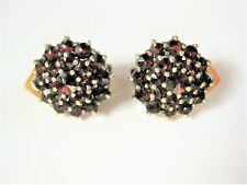 Antique Earrings Real Silver Gold Plated with Garnet 4,41 G