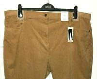 M&S Ladies Trousers Camel Corduroy Straight Leg BNWT Marks Classic