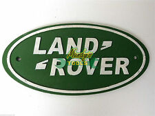 33CM Large LAND ROVER Cast Iron Oval Green Sign Wall Plaque Workshop Garage YLRL