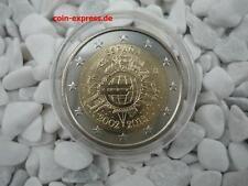 *** 2 Euro Gedenkmünze SPANIEN 2012 10 Jahre € Bargeld Münze Coin KMS Espana ***