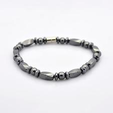 Black Magnetic Hematite Bracelet for Arthritic Pain BP Weight Loss (M066-15)