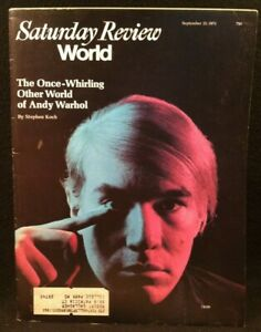 Vintage Saturday Review Magazine 9/25/73 ~ Andy Warhol Cover