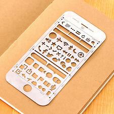 New 1Pc Creative Stainless Steel Cellphone Shaped Straight Measuring Ruler Tool