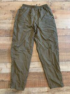 Vintage Nike Embroidered Swoosh Logo Lined Warmup Windpants Mens L Large Brown