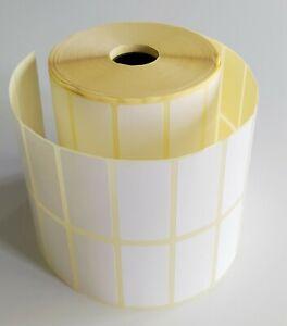 "Blank White stickers Self Adhesive Sticky Address Printer Labels 50mmX25mm 2x1"""
